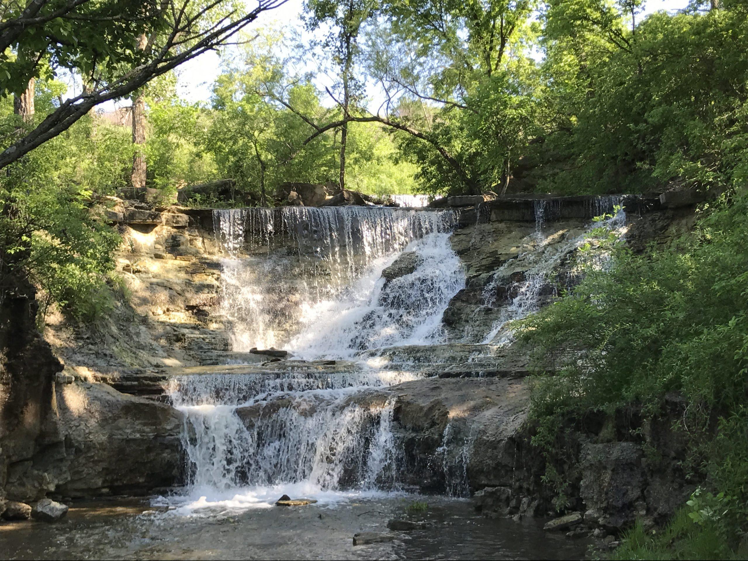 Chase Falls at the Chase County Lake